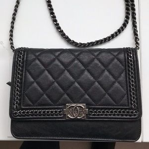 7fa206588eae87 Women's Chanel Black Quilted Crossbody Bag on Poshmark